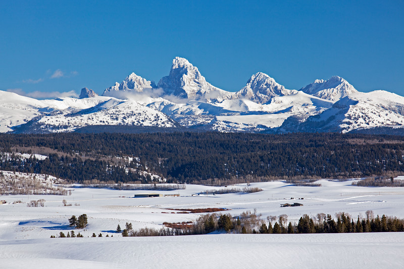 Idaho View of Grand Tetons  #  8037