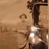 Glenna by a Model T(?).