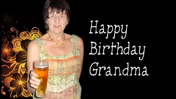 Happy 70th Birthday Grandma