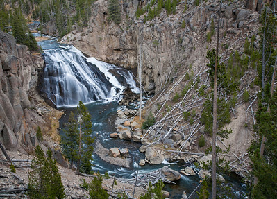 Waterfall - Northern Yellowstone Park