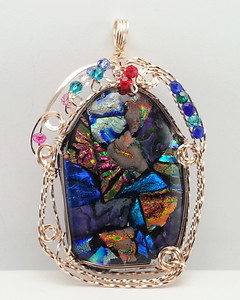 Fron 3 STAINED GLASS PENDANT 9 26