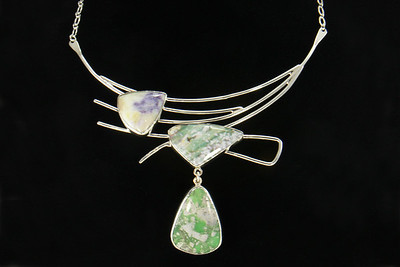 Wallace 1 Lauri & Tommy Wallace - Sterling Silver Metalwork Necklace