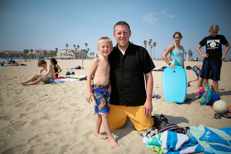 Sterling Ungerman and his son, Walker (6 years old). Sterling is the youngest of Patricia's 8 children.