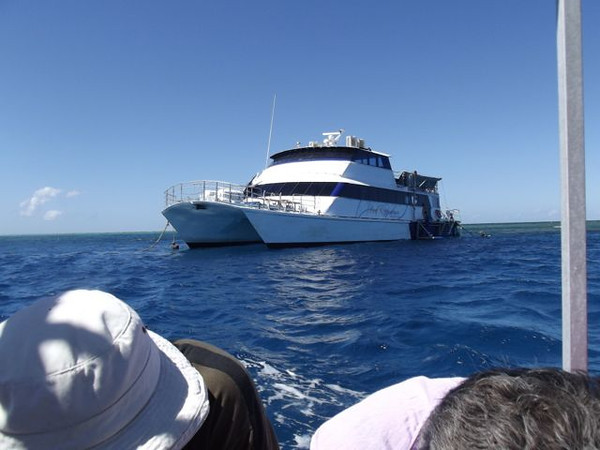 """Our boat for the day - """"Reef Experience'."""