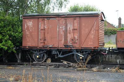B783082 12t Vent Van at Quorn sidings  25/08/14