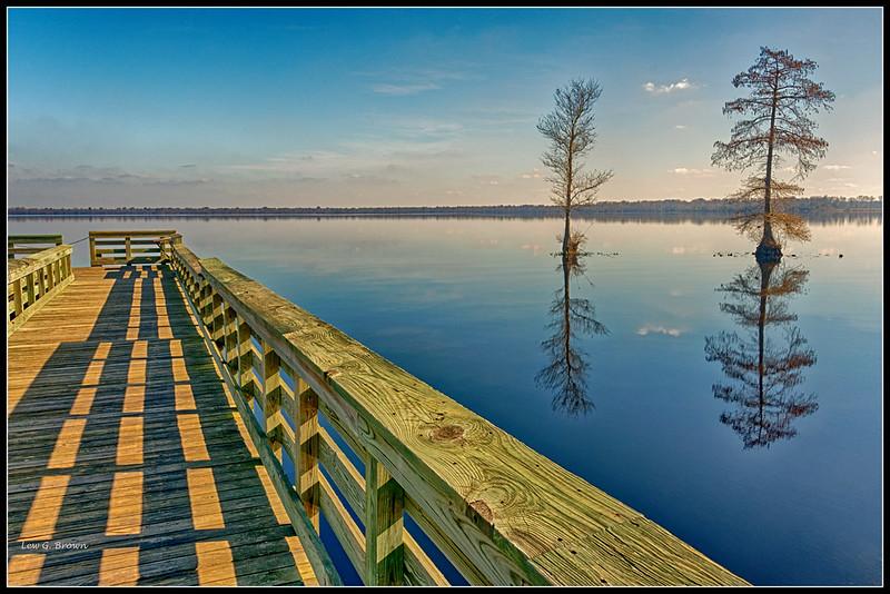 Lake Drummond boat dock