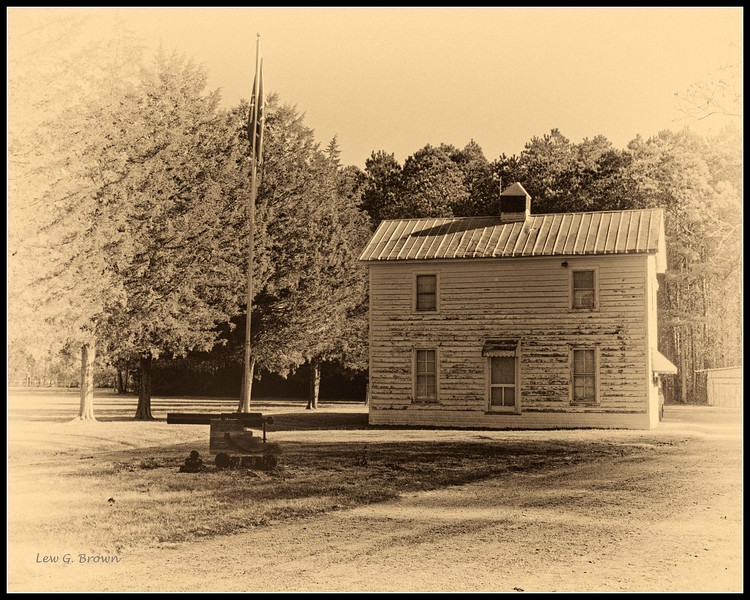 "House, circa 1900, on ""Confederate Drive,"" situated just outside the Swamp."