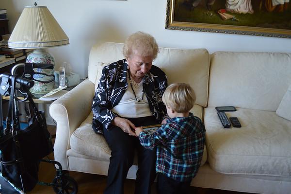 Great Grandma Gert Visit OCt 2014