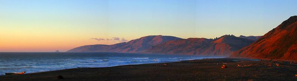 Red Sunset Over Mattole Beach, Lost Coast Highway, Northern California. We camped here for a night. It was an experience I won't soon forget. I want to live here.