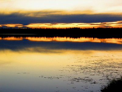 Alaskan Lake at Sunset