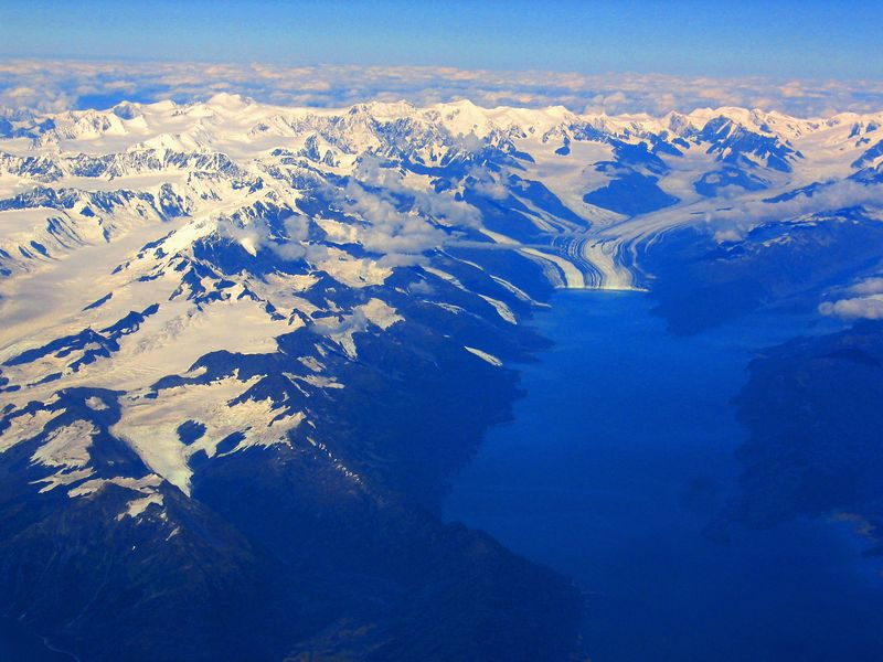 """Muir Glacier. <A HREF=""""http://www.glacier.bay.national-park.com/""""target=""""_blank""""> Click here</A>  for information about Muir Glacier. (This will open a new browser.)"""