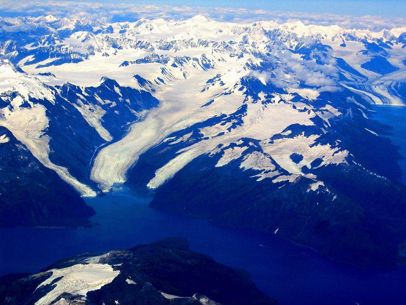 Alaskan Glaciers from Airplane