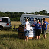 Propane Exceptional Energy Hot Air Balloon Chase Team prepares for a morning flight along with Martin Midstream Partner volunteers at the Great Texas Balloon Race (2009).