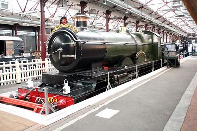 4-6-0 4003 'Lode Star' inside Swindon Museum   15/03/14