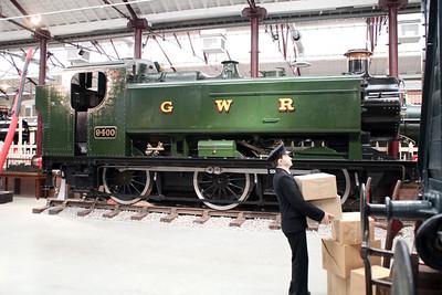 0-6-0PT 9400 inside Swindon Museum   15/03/14