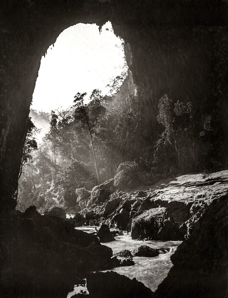 """The exit of the cave from inside."""