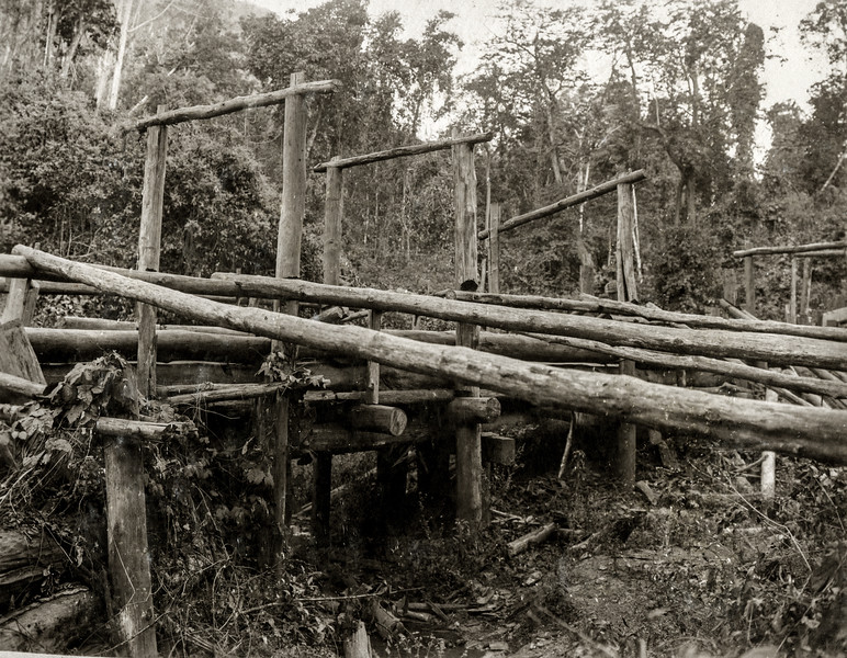 """""""Side view of the same bridge; since raised 3 ft."""""""