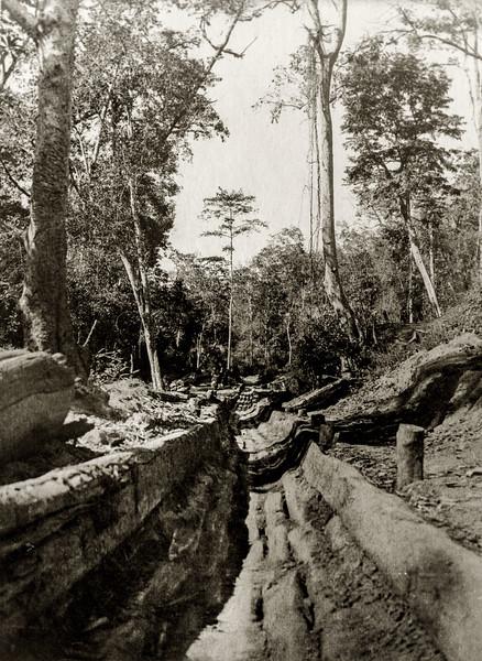 """View of track below the bridge."""