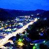 Nighttime in Gatlinburg shows anything but a small town