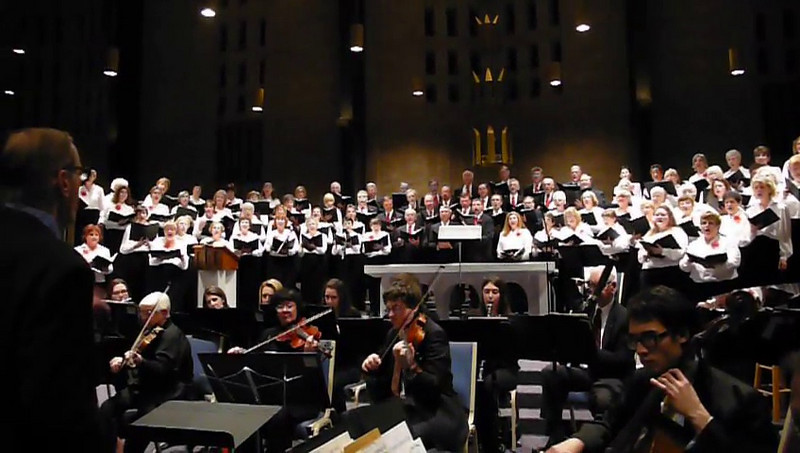 Greece Coral Society and Greece Symphony play the Hallelujah Choris at St Charles Church December 2009