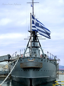 Warship in Greece