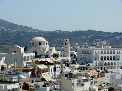 White Santorini Houses