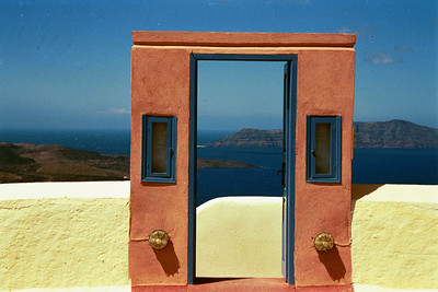 """The Door to Nowhere"" Santorini, Greece"