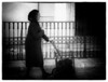 Corfu, Old Woman in black and white