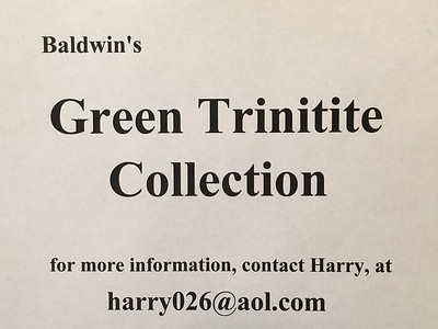 Green Trinitite, Baldwin Collection