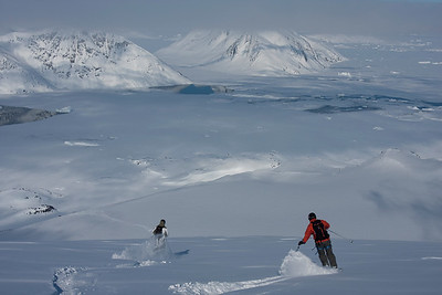 Skiing near Kulusuk, east Greenland