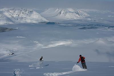 Skiing near Kulusuk, east Greenland