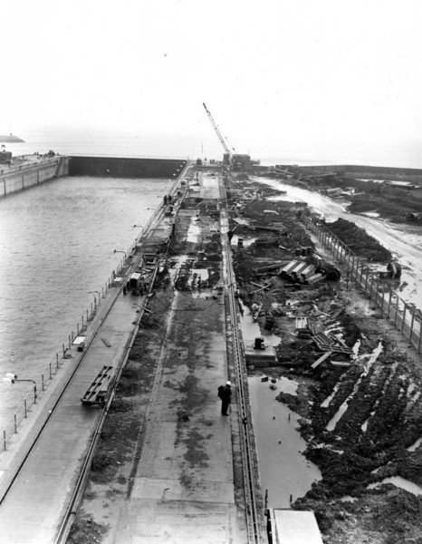 D148General view of east side resurfacing         5/5/1964