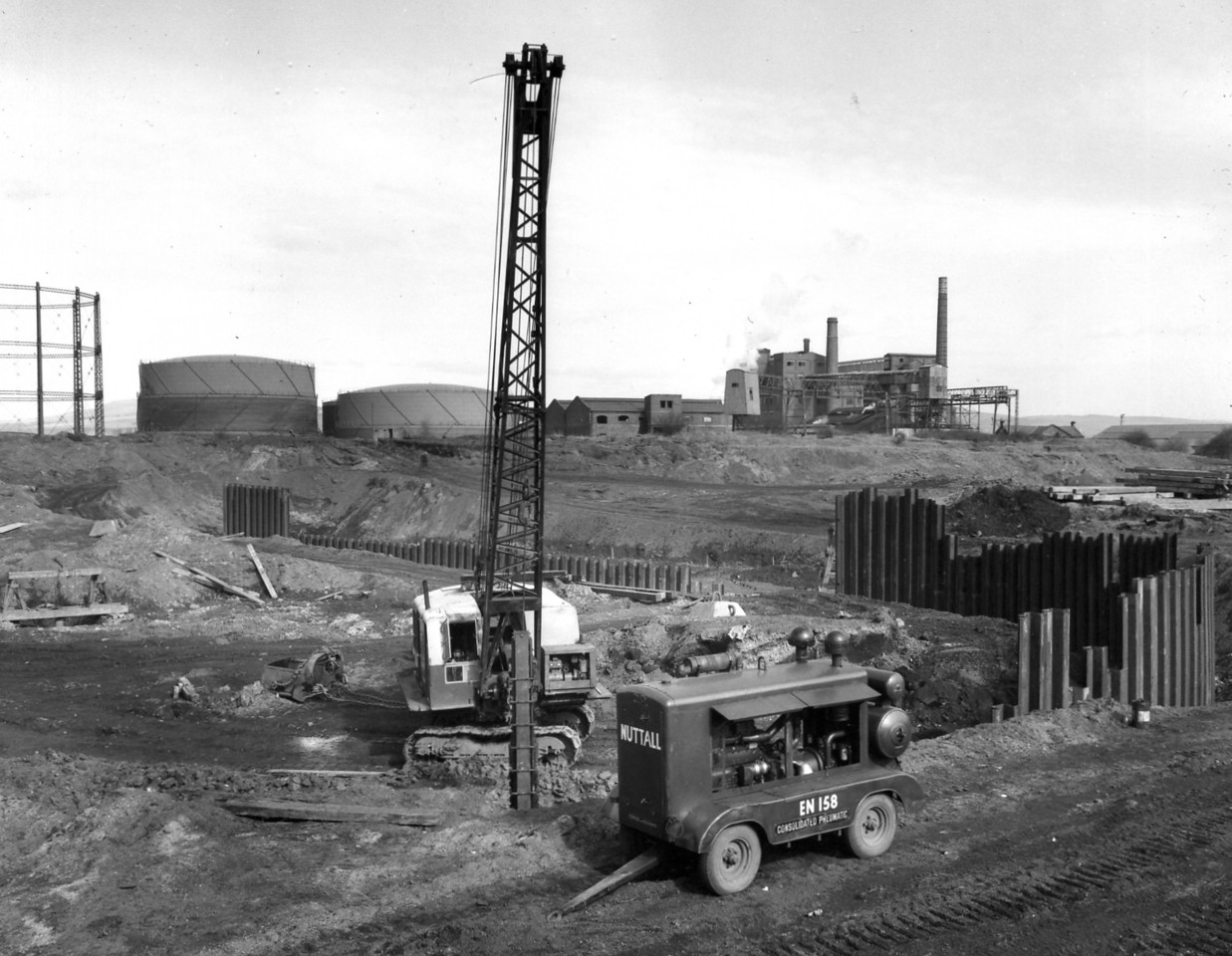 D015Temporary piling & excavation at east side of dock  21/3/1962