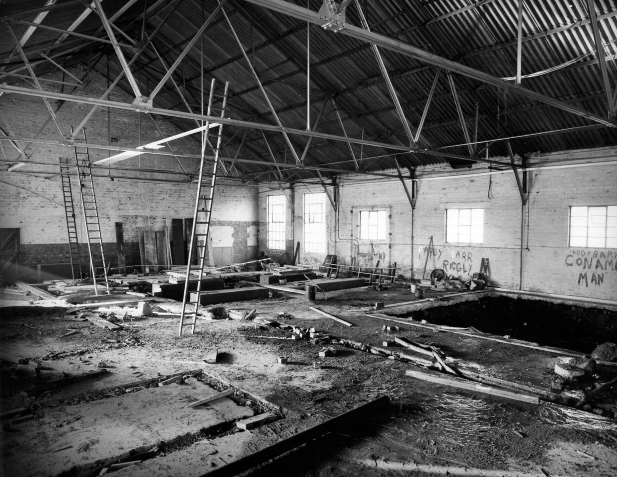 T018 	Work on progress inside boilerhouse    30/3/1963