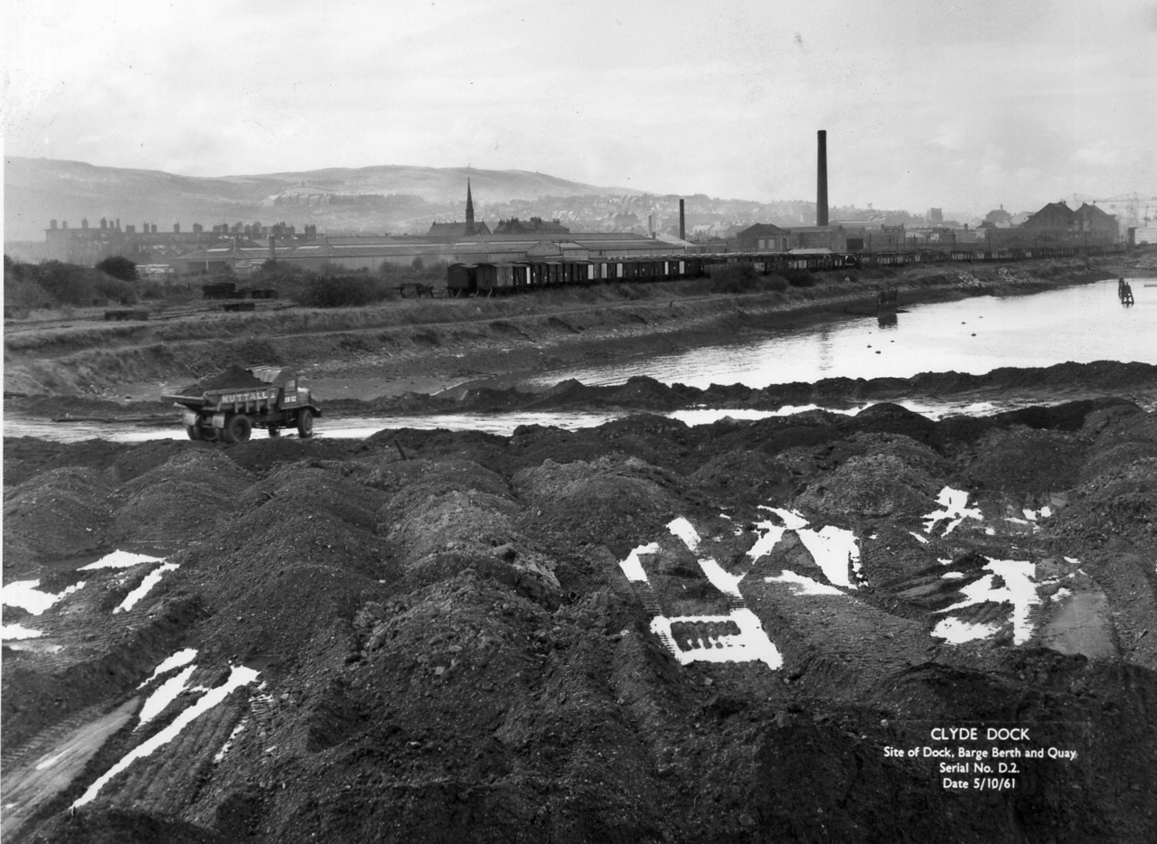 D002Clyde Dock: Site of Dock, Barge Berth and Quay  5/10/1961
