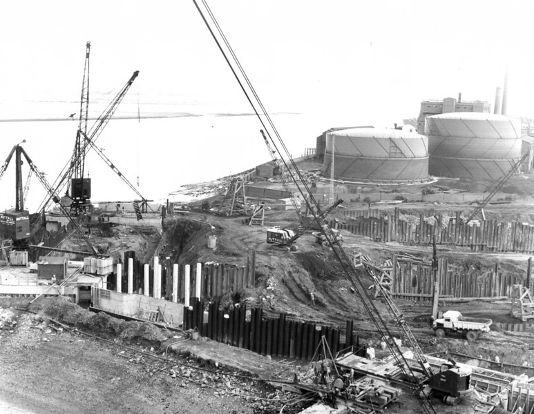D095	View of barge berth and entrance works looking east   26/6/1963