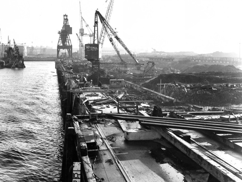 Q034	General view of Repair Quay from MSR Wharf   3/2/1964
