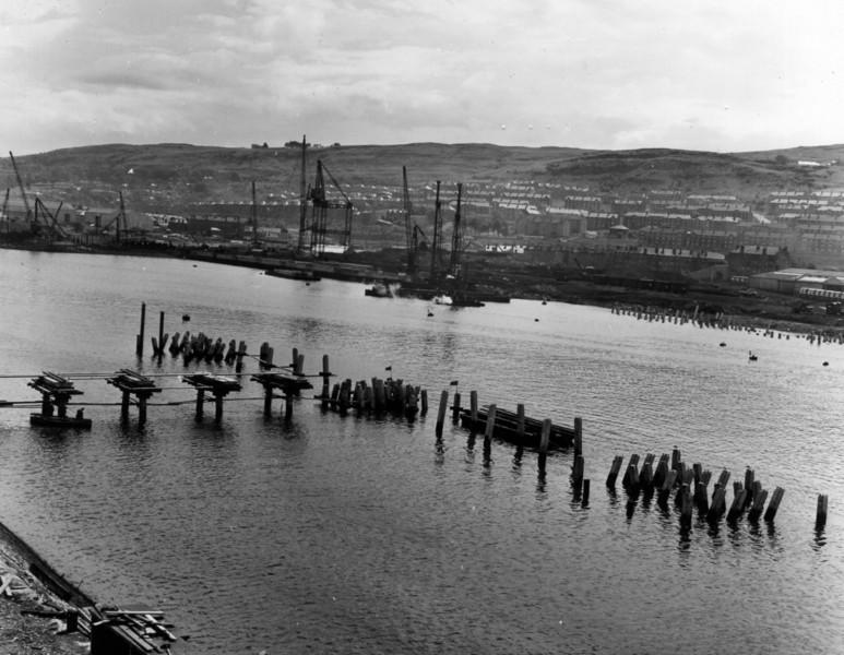 T025View of tanker jetty looking east  26/6/1963