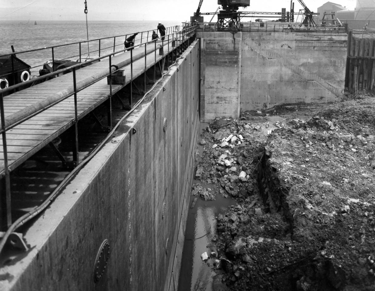 D109Excavation in progress behind cill  1/10/1963