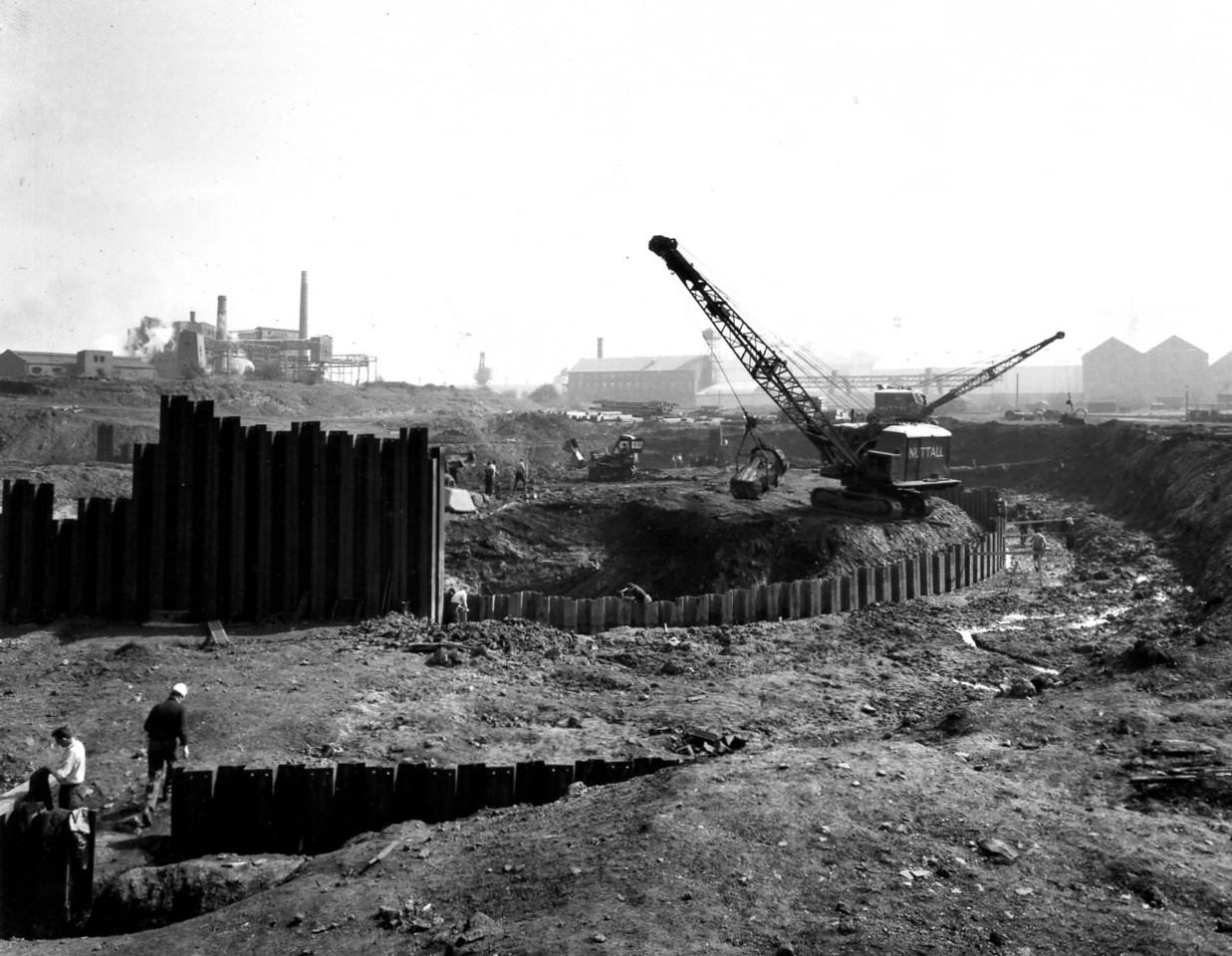 D021General view of south end of site April 1962
