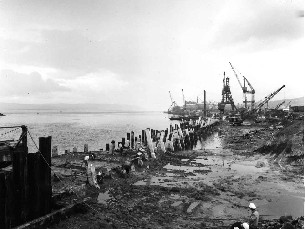 Q026	Repair Quay at west end   Sept 1963