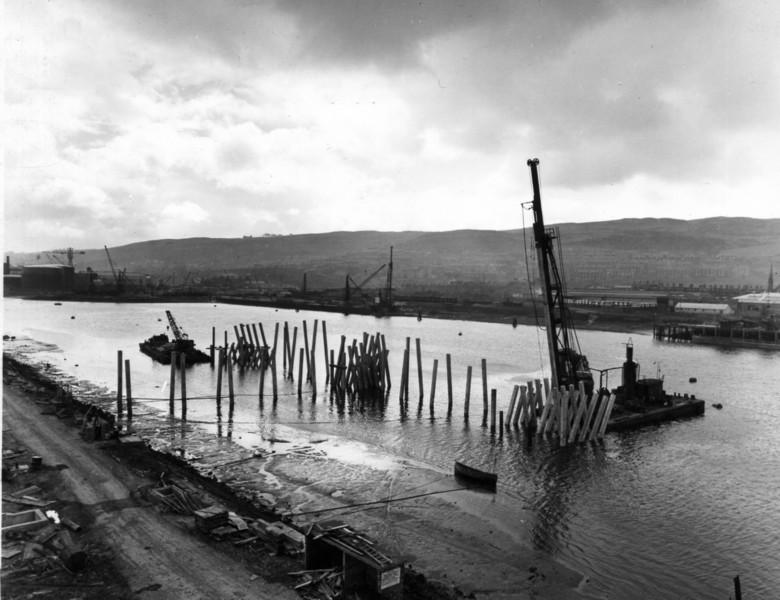T021Jetty piling from top of reception tank   29/4/1963