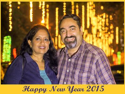 Anu & Suchit Nanda at Hiranandani Gardens, Powai Lake. Picture shot on 31st December 2014 by photographer Mukesh Trivedi.