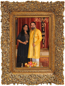 WISH YOU A VERY HAPPY DEEPAWALI 2011!  Diwali Celebrations. Arundhathi and Suchit Nanda in Powai, Mumbai.