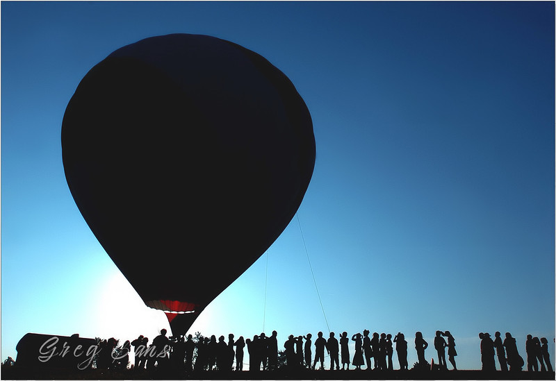 Hot air balloon-ride day for school kids in NC.