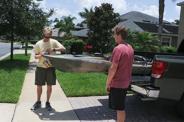 Greg's kayak maiden voyage