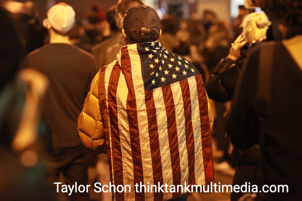 American Flags are ever present.