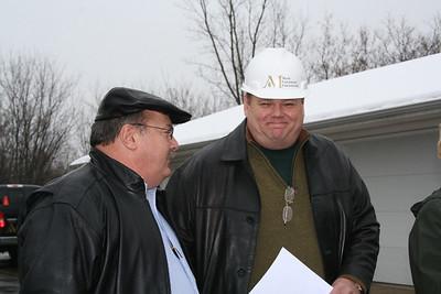 Alderman Steve Olsen with developer Mark Carstensen