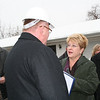 Dn. Nagel speaks with Mary Horton, wife of developer Mark Carstensen