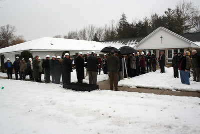 Approximately 50 people attended the groundbreaking